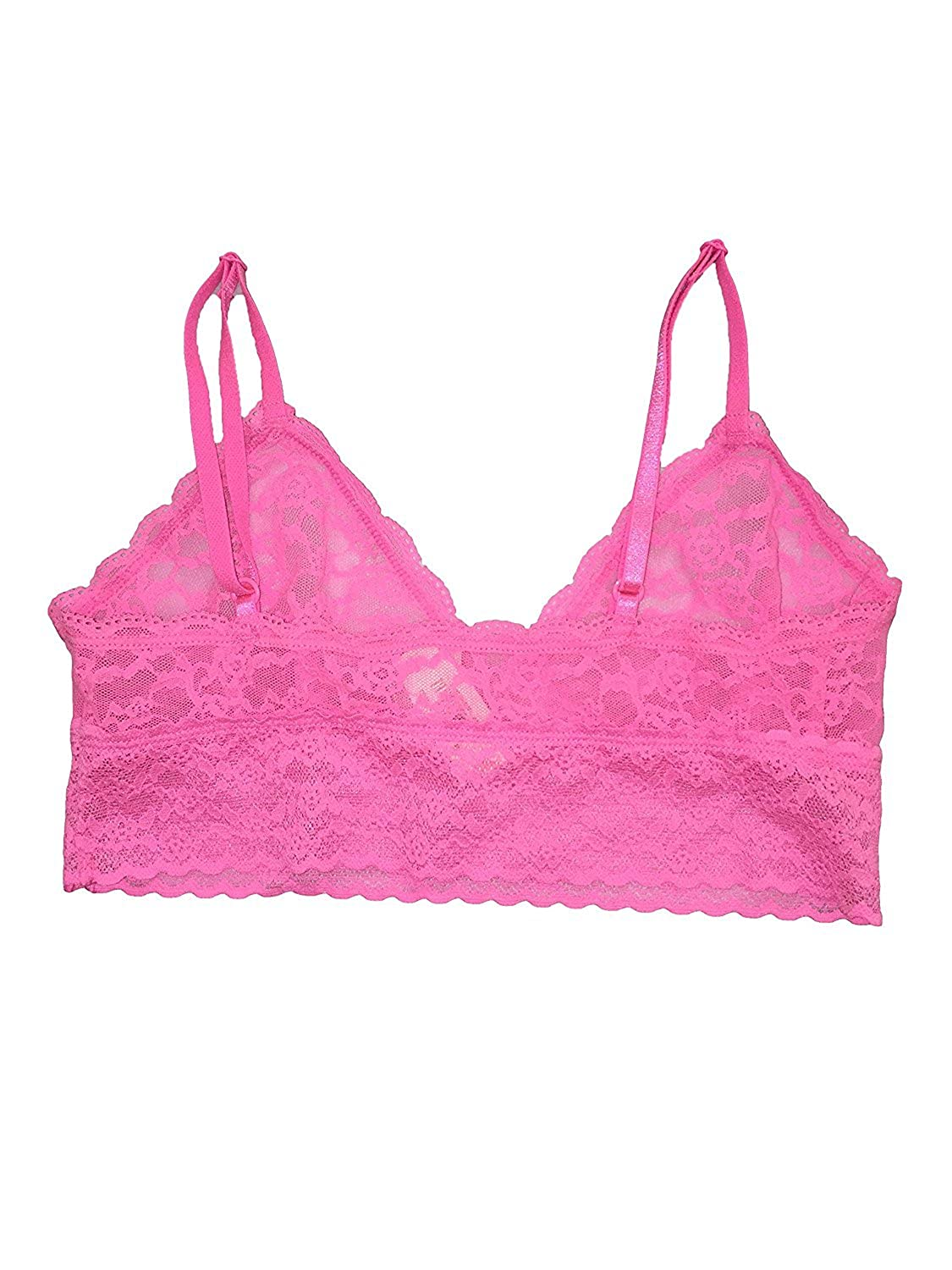 cb39db9a70 Victoria s Secret Pink Neon Pastel Pink Lace Bralette (Small) at Amazon  Women s Clothing store