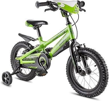 Kawasaki Bicicleta Krunch 14 Verde única: Amazon.es: Deportes y ...