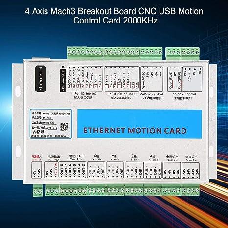 4 Achsen Breakout Board Kabel CNC Motion Control Karte 2000KHz F/ür Ethernet Schnittstelle