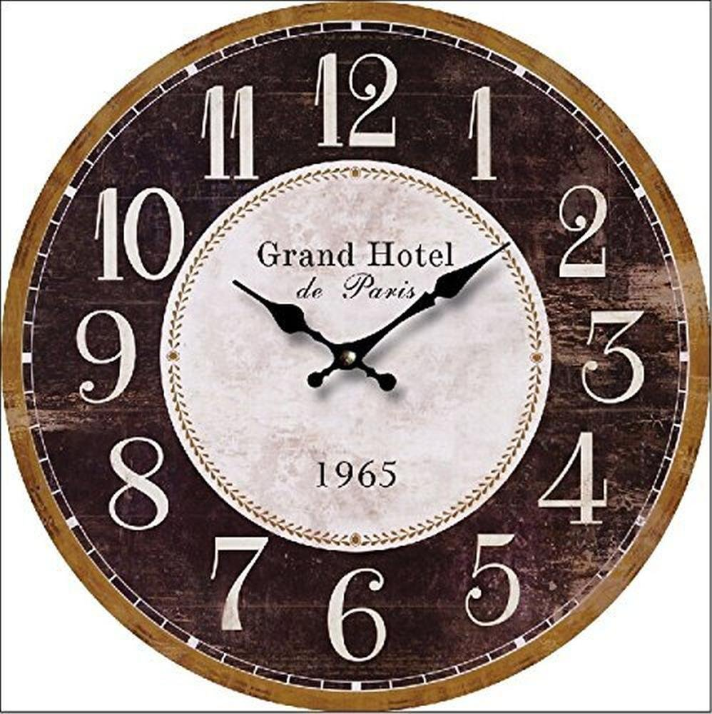Horloge Murale Grand Hotel Shabby Cuisine 30 Cm Tinas Collection
