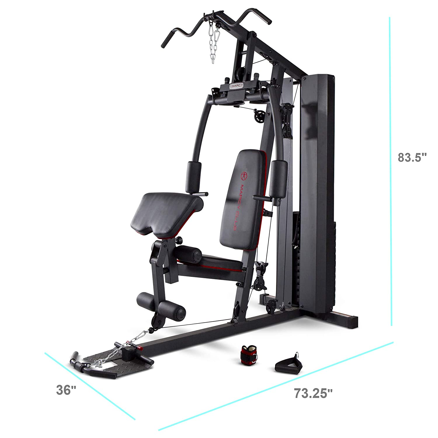 Amazon.com : marcy stack dual function home gym 200 lb. stack mkm