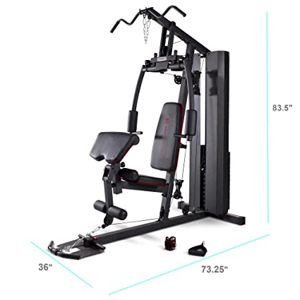 Marcy Stack Dual Function Home Gym – 200 lb  Stack MKM-81010