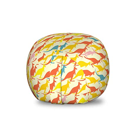 Pleasing Amazon Com Ambesonne Kangaroo Storage Toy Bag Chair Unemploymentrelief Wooden Chair Designs For Living Room Unemploymentrelieforg