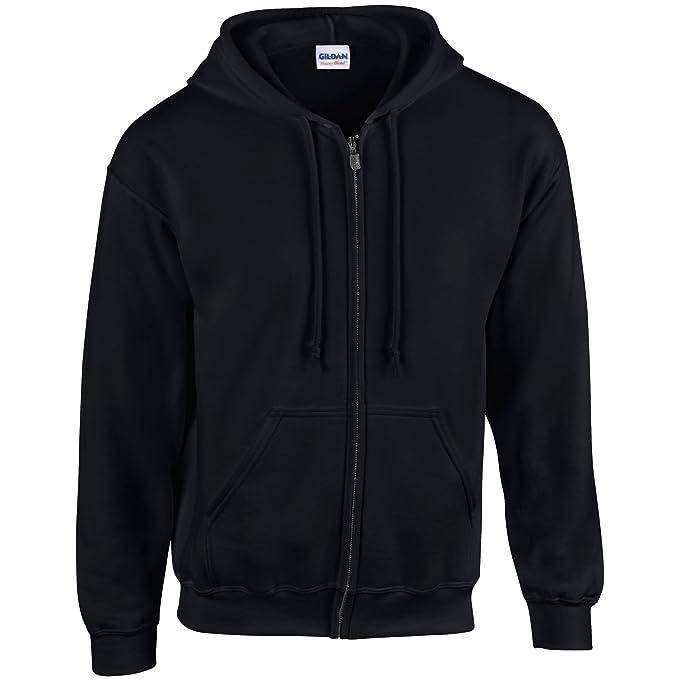 6e911dc4d3f GILDAN Mens Heavy Blend Zipped Hooded Sweatshirt  Amazon.co.uk  Clothing