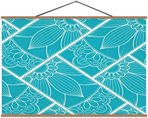 Line Art Seamless Pattern No.330,Magnet Print Poster for Home 16x12in