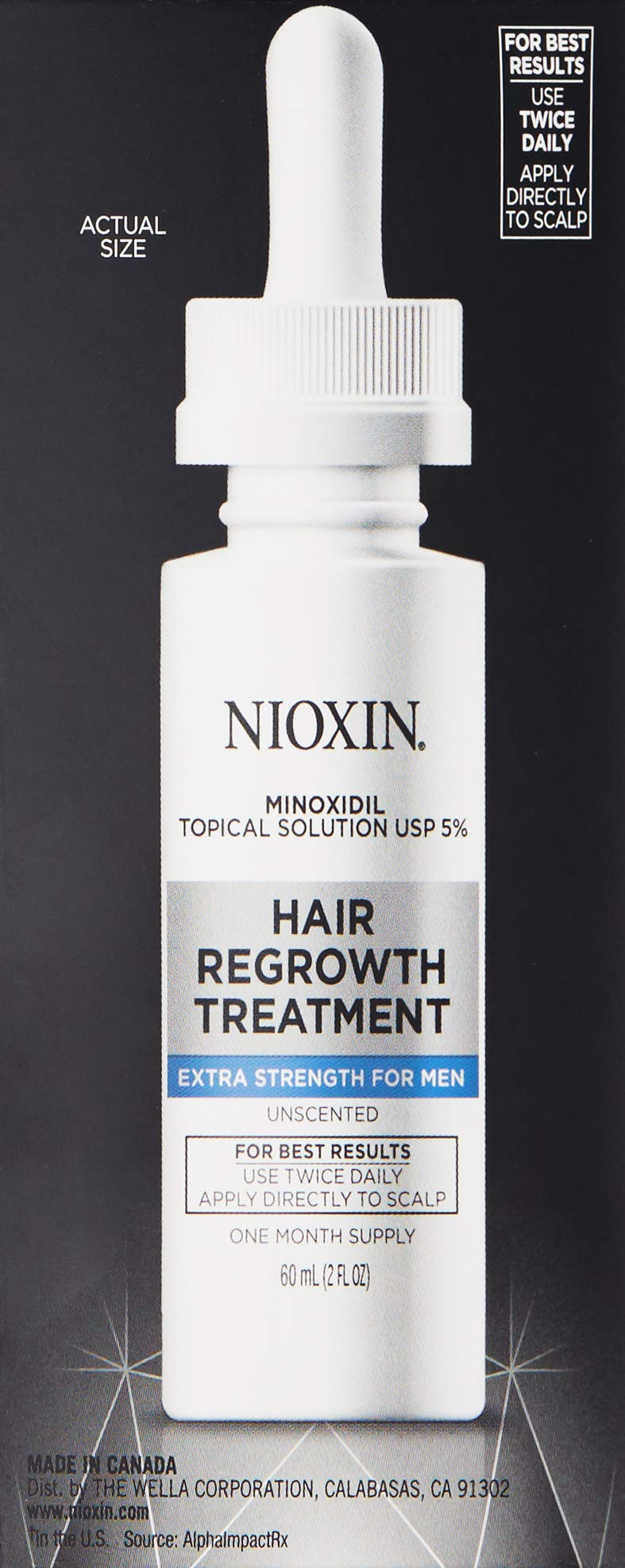 Nioxin Minoxidil Hair Regrowth Treatment Men, 6 oz. by Nioxin (Image #4)