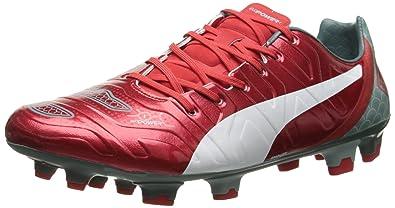 bbb83f5016ad PUMA Men's Evo Power 1.2 Graphic FG Soccer Shoe, High Risk Red/White/