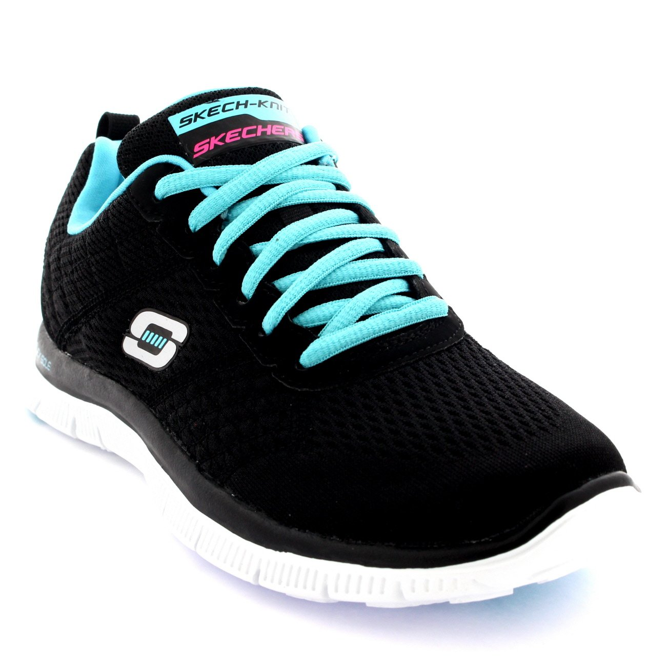 10e2fbaf9c6b Skechers Womens Flex Appeal Obvious Choice Casual Memory Foam Trainers -  Pink Yellow - 5  Amazon.co.uk  Shoes   Bags