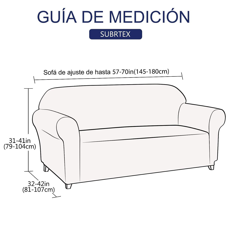 subrtex 1 Pieza Funda de Sofá Poliéster Elástica Cubierta de Asiento Forro de Sofá Doméstica (2 Plazas, Gris)