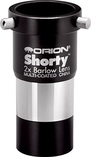 Orion 08711 Shorty 1.25-Inch 2x Barlow Lens