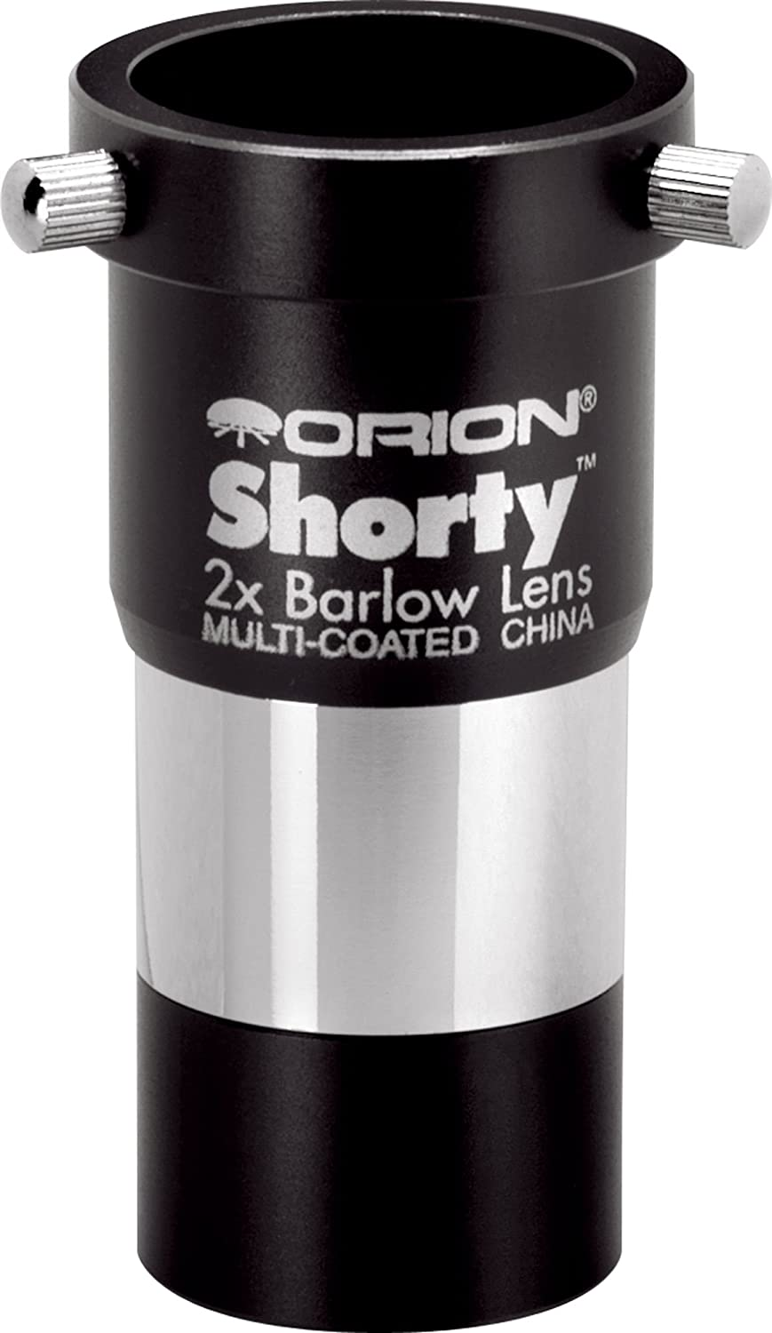 Orion 08711 Shorty 1.25-Inch 2x Barlow Lens (Black) Optronic Technologies