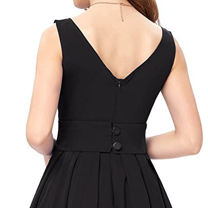 64af73d72d3 Belle Poque Womens Audrey Hepburn 50s Dress Sleeveless Tea Dress BP091 at  Amazon Women s Clothing store