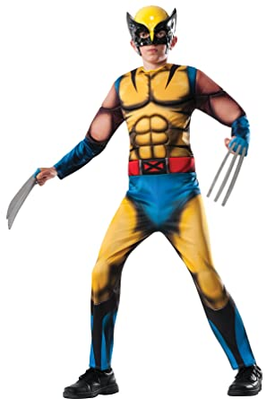 Deluxe Wolverine Costume Child Costume (Medium 8-10)  sc 1 st  Amazon.com : costumes for kids amazon  - Germanpascual.Com