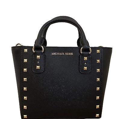 Michael Kors Sandrine Stud Small Crossbody Leather Handbag