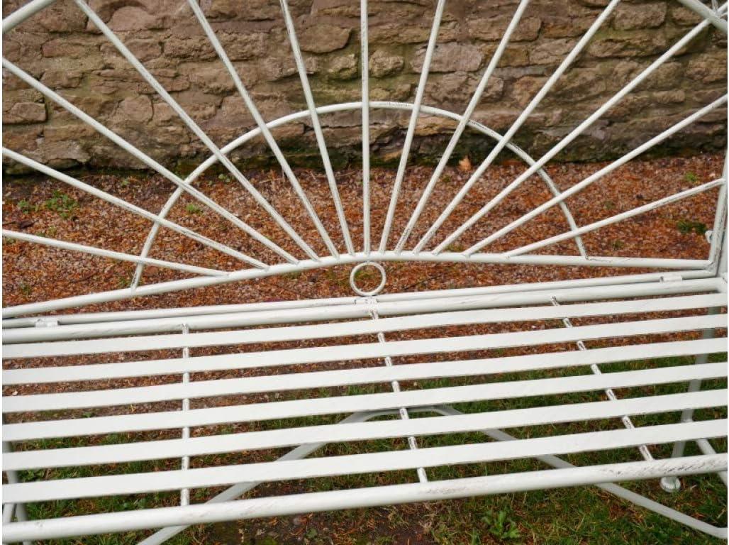 Sconosciuto Panchina da Giardino in Metallo Larghezza 127 cm Colore Verde Pistacchio