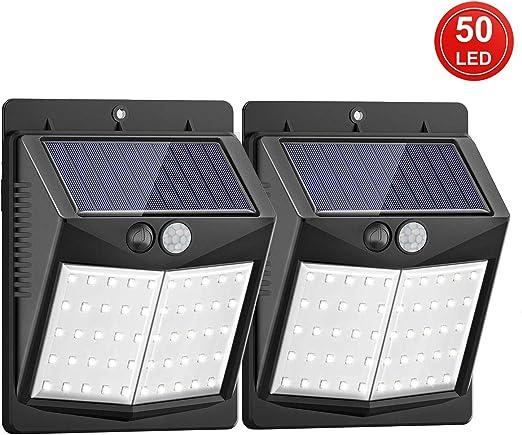 XIBALI Luz Solar Jardín,Lámparas Solares Impermeable,Focos LED ...