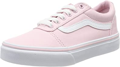Vans Girls Ward Lace Up Sneaker Chalk