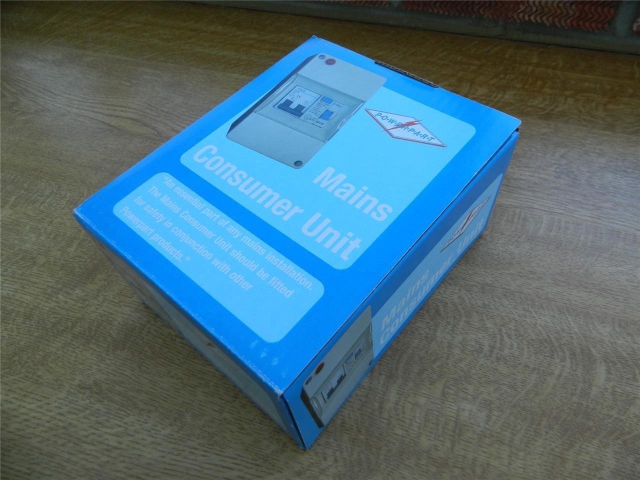 Verteilerkasten / Sicherungskasten fü r Wohnwagen/Wohnmobil, kompakt, 240 V Pennine Powerpart PO103
