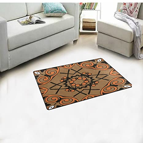 Amazon.com : SAVSV Area Rug Doormats Floor Mats Non Slip With Flower ...