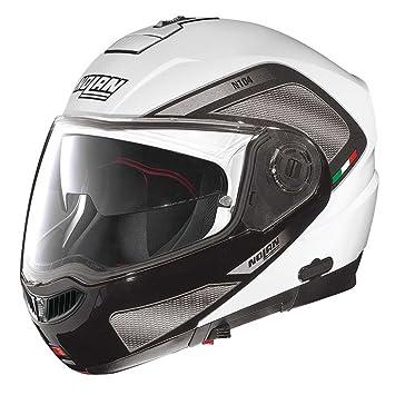 Nolan N104 Evo Tech N- Com - Casco modular de moto blanco blanco-negro