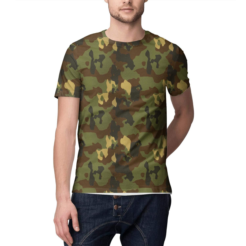 3D Print Mens T Shirt Graphic Dri Fit Camo Camouflage Short Sleeve T-Shirts Tee