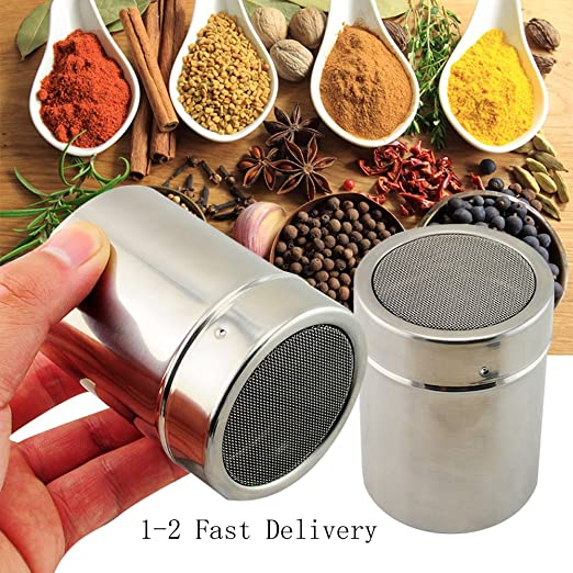 Amazon Com Scenstar Stainless Chocolate Fine Mesh Sifter Shaker
