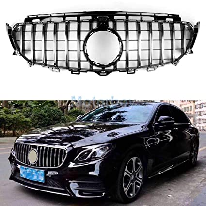 Usudu GT R Style Grille W213 E200 E250 E300 E43 AMG 2016-2018 Grill For  Mercedes Benz W213 (Silver Beam)