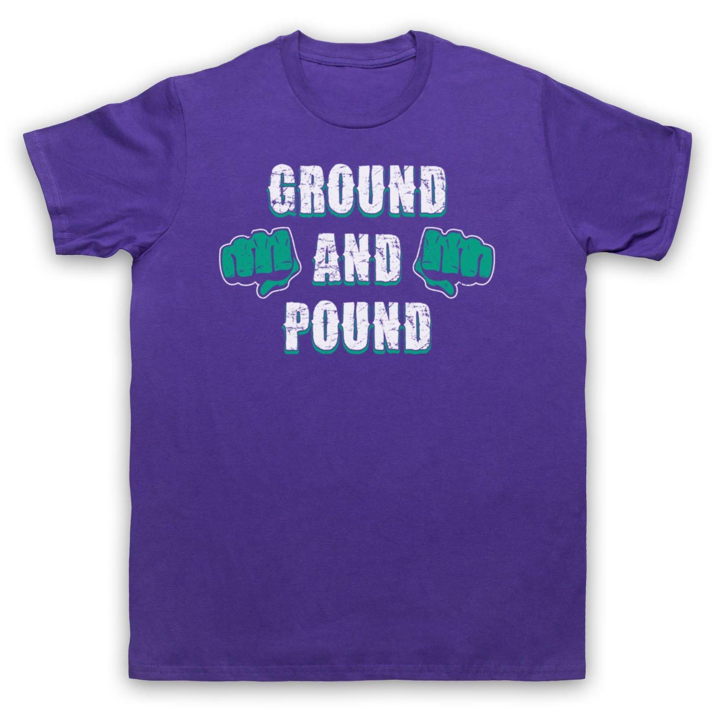 Ground And Pound MMA Fighting Slogan Herren T-Shirt: Amazon.de: Bekleidung