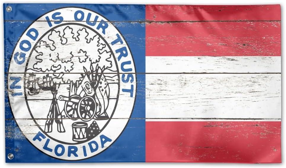 3x5 ft Florida Republic Flag 1861 In God Is Our Trust Civil War Flag