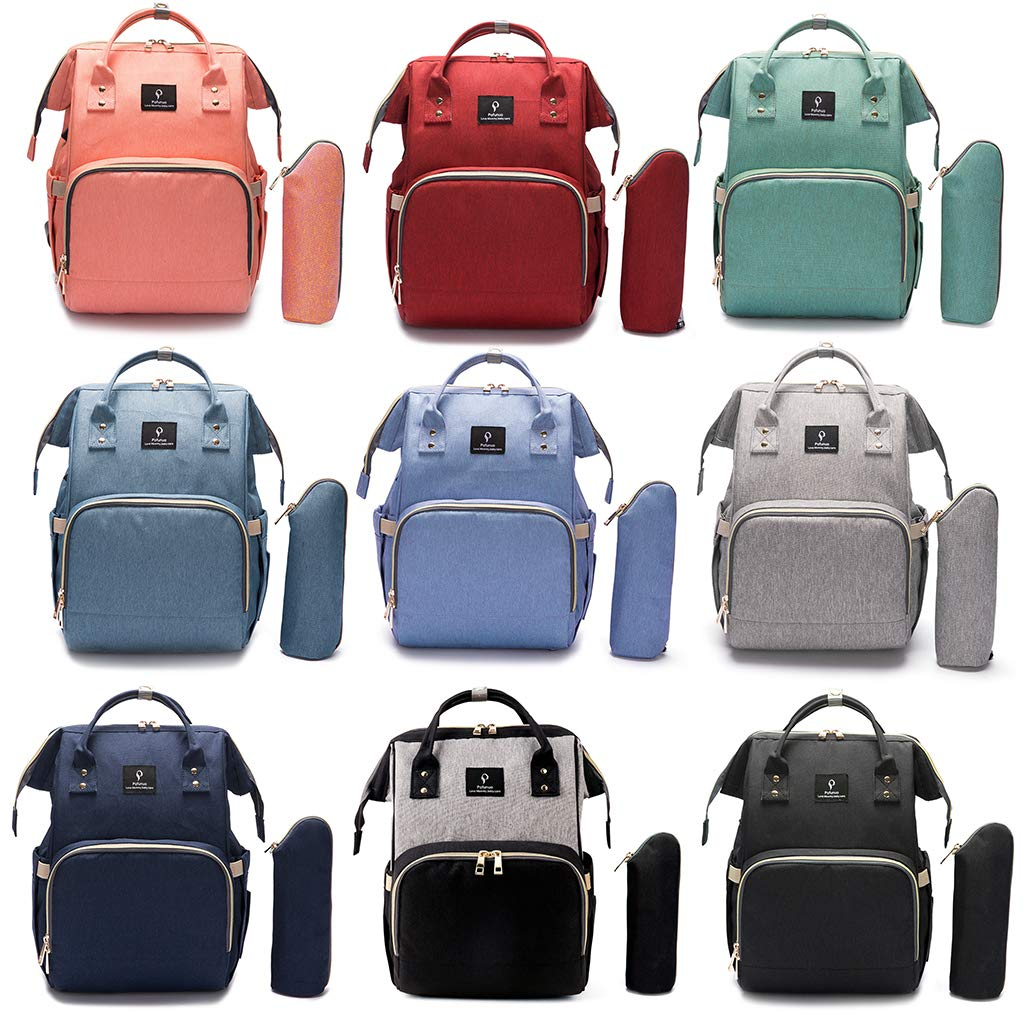Bolso cambiador multifunci/ón para mam/á color negro azul Lifet Baby impermeable, bolsa aislada para viajes, gran capacidad