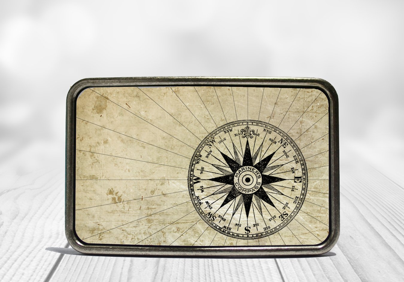 Mariner's Compass Belt Buckle