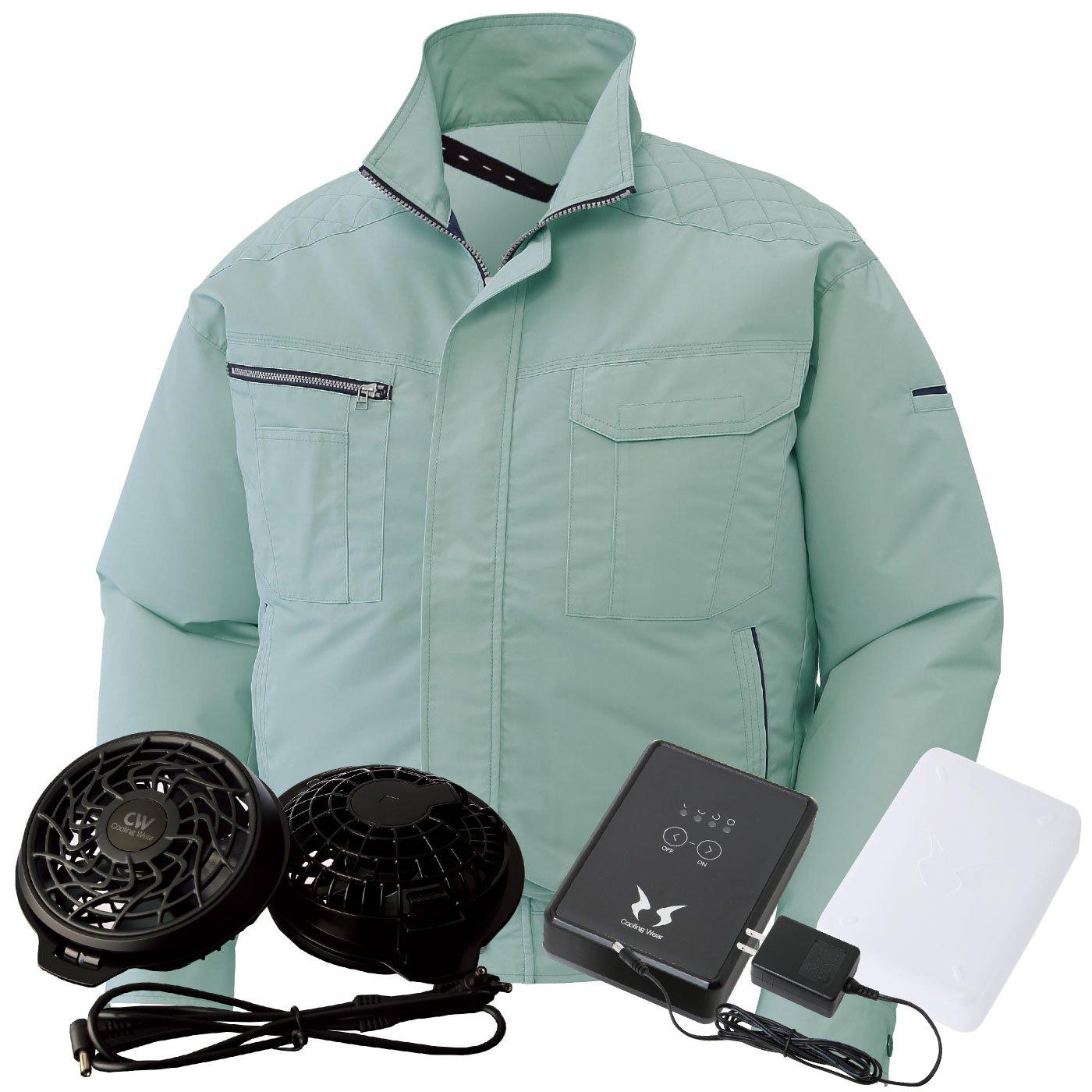サンエス(SUN-S) 空調風神服 (空調服+ファンRD9810R+バッテリーRD9870J) ss-ku90430-lx B074FYMMJL XL|モスグリーン モスグリーン XL
