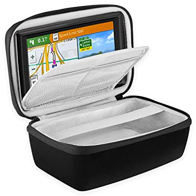 "BOVKE Hard Carrying Case for 5-Inch GPS Navigator Fit Garmin Nuvi 55LM 2557LMT 52LM 42LM tomtom Mio 4.3-5"" Accessories Travel Bag, Black"