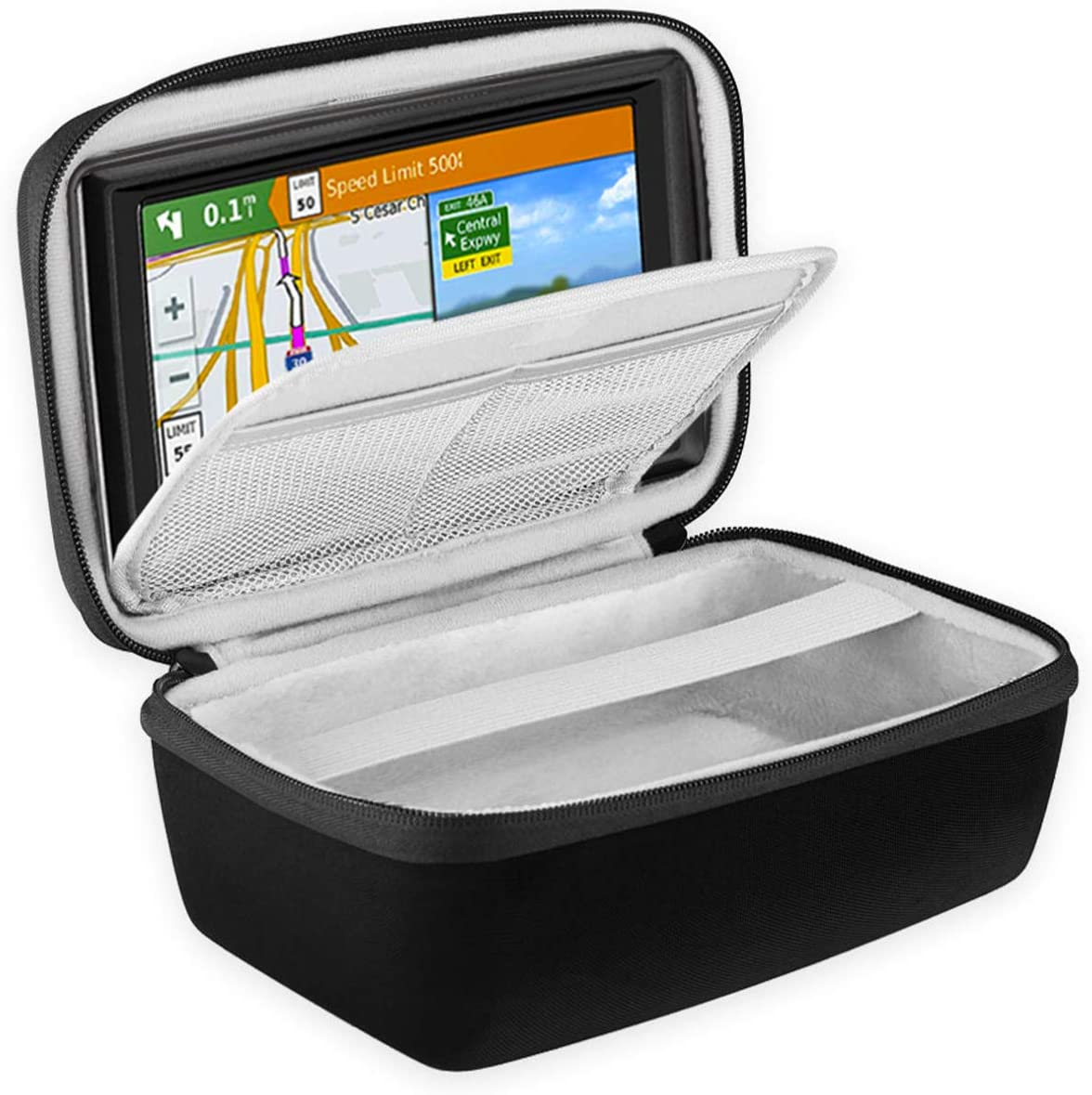 BOVKE Hard Carrying Case for 5-Inch GPS Navigator Fit Garmin Nuvi 55LM 2557LMT 52LM 42LM tomtom Mio 4.3-5