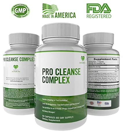 Amazon.com: Pro Cleanse Complex All Natural Body Detox Supports Healthy Digestion and Colon Functions - is Gentle and Effective that Supports Weight Loss ...
