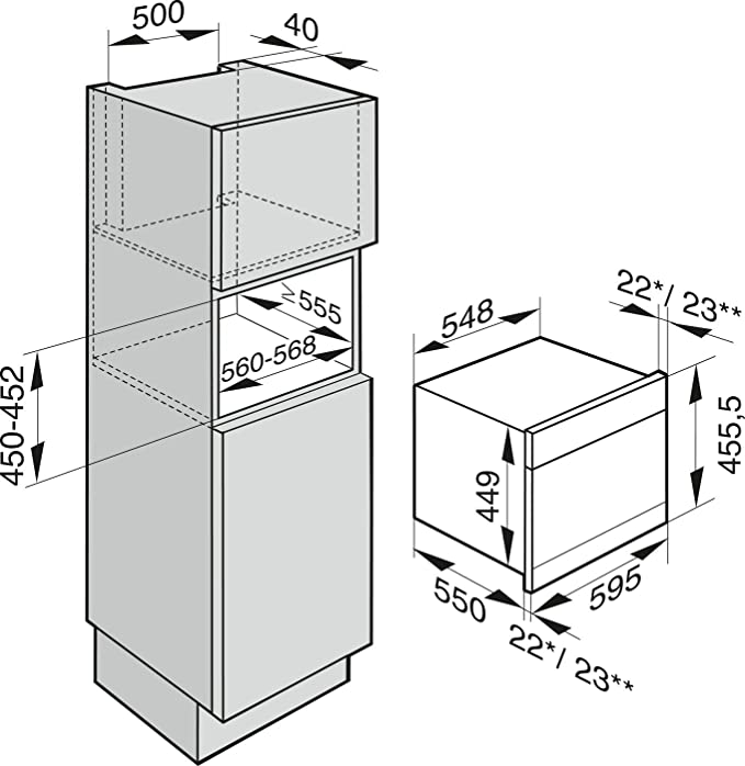 48 Liter Garraum edelstahl Miele DGC6500 Dampfgarer Einbau Combigaren
