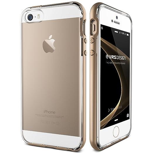 56 opinioni per Cover iPhone SE/5S/5, VRS Design® Custodia [Oro] Ultra-Sottili Antiurto Doppia