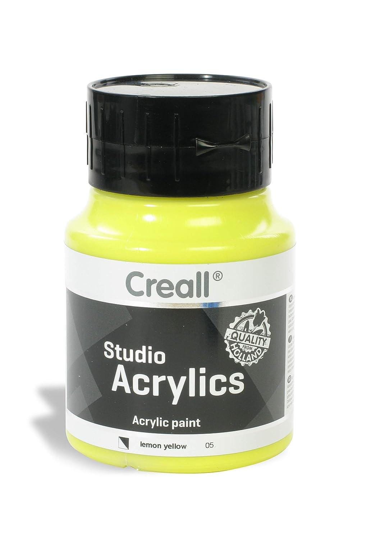 American Educational Products A-05005 Creall-Studio-Acrylics 500Ml 05 Lemon Yellow   B00UVATSUC