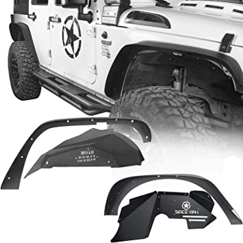 u-Box Jeep Front and Rear Inner Fender Liners for 2007-2018 Jeep Wrangler JK /& JK Unlimited 4pcs