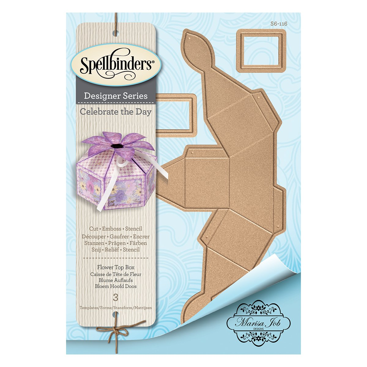Amazon Com Spellbinders Flower Top Box Etched Wafer Thin Dies