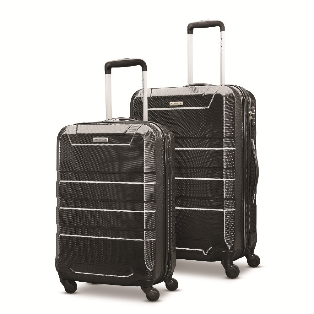 Samsonite Invoke 2 Piece Nested Hardside Set (20''/24''), Black, Only at Amazon