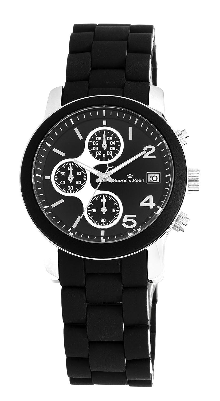 Herzog & SÖhne Damen-Armbanduhr Chronograph Quarz Edelstahl HS402-122