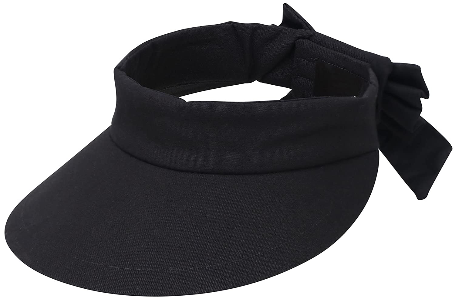 85792a31 This visor protects the face as well as a regular sunhat, yet allows you  the freedom to wear your hair up or down as desired, thanks to its open top.