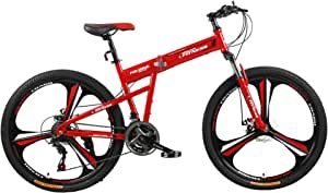 Fitness Minutes Folding Bike, Red, FM-F26-03M-RD
