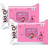 Kido Gentle Baby Wet Wipes with Aloe Vera, 15 cm x 20 cm, Combo of 2 (Kido Pink, 80 * 2=160 Count)