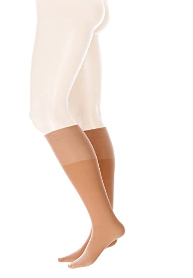 Glamory Fit, Calcetines Altos para Mujer, 50 DEN, Braun (Make Up)