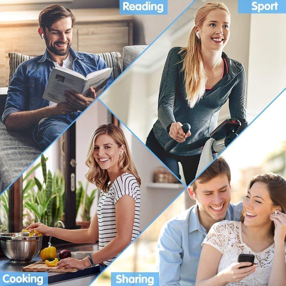 Bluetooth Kopfh/örer,Kopfh/örer Kabellos In Ear Ohrh/örer Bluetooth Headset Sport-3D-Stereo-Kopfh/örer,mit 24H Ladek/ästchen und Integriertem Mikrofon Auto-Pairing f/ür Samsung//iPhone//Airpod//Android