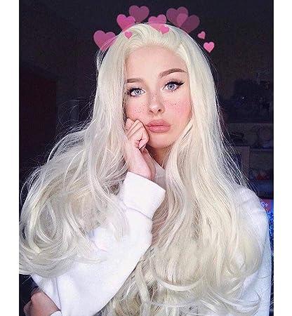 Vébonnie – Pelucas de malla frontal de cabello ondulado sintético ...