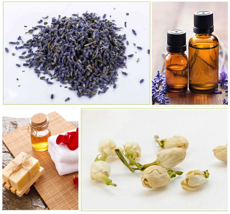 Soap Making Lavender Bulk Kit of Jasmine 4 Pack /× 85 g Oil Making Rosebuds Edible Kosher Certified Chamomile Dried Flower Buds Kit- 4 Pack for Candle Making
