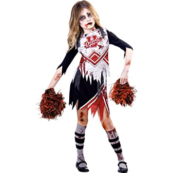 amscan kids zombie cheerleader girl halloween fancy dress costume